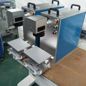 China Mini 20w fiber laser engraving machine for metal / bearing / jewelry / Phone Case on sale