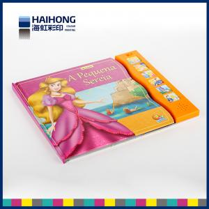China Full color 6 sound buttons music book printing and glossy lamination or Spot UV on sale