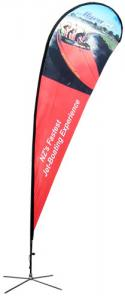 China UV Printing Precision Custom Flags Banner With Polyester Banne For trade show displays on sale
