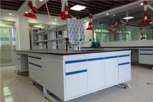 China Custom Made Island Bench Lab Furnitures With Sink Unit For Chemical Lab Furniture on sale