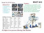 Vinot Quality High Efficient Three Layers Film Blowing Machine Customized for U.K.  with LLDPE Material Model 3SJ-G1000