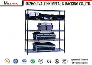 China Weather Proof Commercial Shopping Mall Wire Metal Shelving 4 Layer Customized on sale