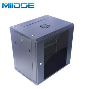 China Miidoe 19 inch 12u flat packing wall mount network cabinet server rack with glass door on sale