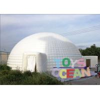 Huge White Inflatable Dome Tent / Outdoor Inflatable Igloo Marquee For Event