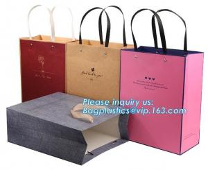 China Fancy Customized 2 Colors Printed Luxury Paper Shopping Bag With Twisted Paper Handle,Shopping Bag with Logo Cheap Price on sale