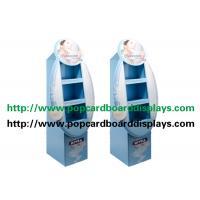 China Blue Color Corrugated Paper Custom Cardboard Display Stand Racks For Shampoo on sale