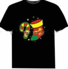 China Chrismas  El Flashing T-shirt on sale