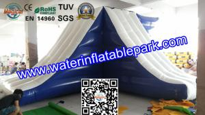 China Lake Inflatable Floating Water Slide / Inflatable Water Games Float Climb And Slide on sale