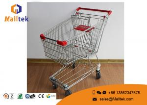 China Wire Mesh  Type Folding Shopping Trolley On Wheels Foldable Trolley Cart on sale