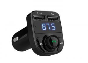 China Stereo Car Bluetooth Fm Radio Transmitter USB Output Voltage 5V 2.1A on sale