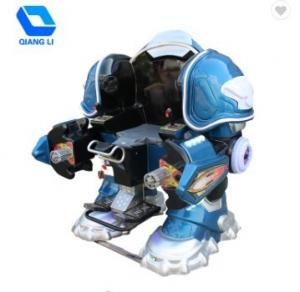 China Outdoor Portable Carnival Rides Coin Operated Robot Ride / Remote Control Robot Ride on sale