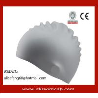 China Wrinkle free silicone swimming caps for adult on sale