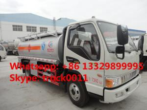 China JAC 4*2 LHD mini 5 cubic meters refuler truck for sale, factory direct sale JAC 5 cubic meters oil dispensing truck on sale