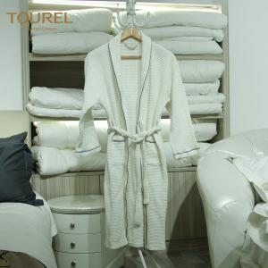 China Plush Terry Cloth Bathrobes Mens Towelling Bathrobe Hook Waffle Bathrobe on sale