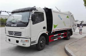 China Dongfeng 4*2	Garbage Compactor Truck 120Hp Self Loading and Discharge Garbage Truck on sale