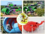 China Water Play Equipment Tornado Slide Fiberglass Water Slides with 18m Height Tower for Water Park wholesale