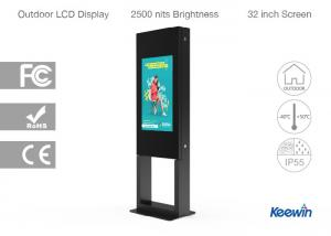 China IP55 Design Touch Screen Advertising Kiosk , 2000 Nits Outdoor Interactive Kiosk on sale