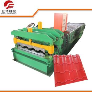 China 2 - 3 M / Min Speed Glazed Tile Roll Forming Machine Making Steel Plate on sale