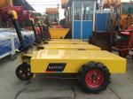 construction machinery wheel trolley electric pallet mobile cart with battery