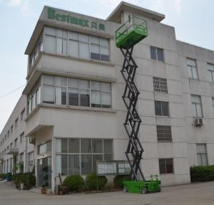 China DC Motor drive Self Propelled Scissor lift platform for tough terrain max 12m working height on sale