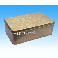 Small Empty Metal Rectangular Tin Box Packaging For Toys , Metal Rectangle Box