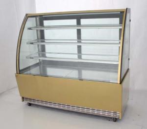 China stainless steel finish cake showcase,bakery showcase,cake refrigerator on sale