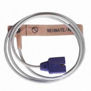 China El recién nacido de Nellcor/el sensor adulto del oxímetro del pulso con el cable del PVC, cumple el estándar CE/IS13485 on sale