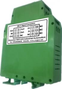 China 3000VDC isolation Converter NPN to PNP transmitter, sine wave shaping green DIN35 signal converter on sale
