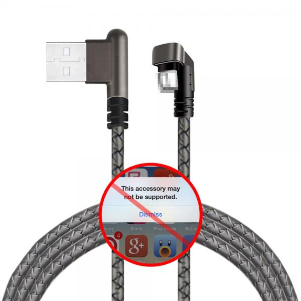 6 Plus Right Angle Usb Lightning Cable