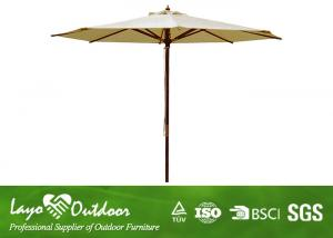 Stand Alone Cantilever Tilt Patio Umbrella , Large Backyard Sun Garden  Umbrella Light Weight