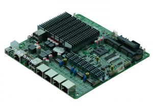 China Intel® J1800 4 gigabit LAN fanless mini itx firewall network security motherboard on sale
