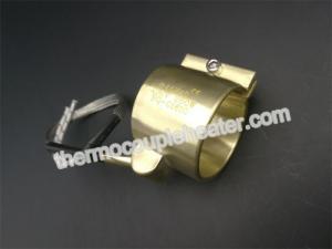 China Calentador de resistencia eléctrica de cobre amarillo modificado para requisitos particulares de la boca del corredor caliente presionado con el termopar on sale