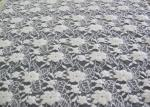 Tela de estiramento floral escovada lavável do laço/tela de nylonCY-LQ0043 do Spandex do algodão