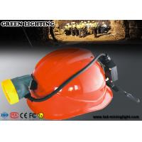 Rechargeable IP68 Waterproof Coal Miners Headlamp , 10000 Lux CREE LED Mining Cap Lamp