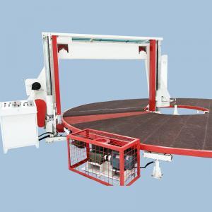 China Horizontal Circular / Rotary Sponge Cutting Machine , Foam Block Cutting Machine on sale