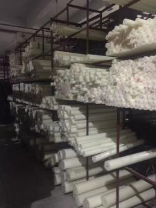 China cheap price of hdpe plastic round bars cut to size for machining white color on sale