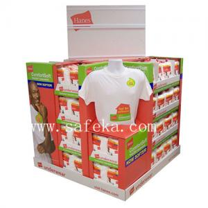China Corrugated Cardboard Pallet Display stand for T-shirts on sale