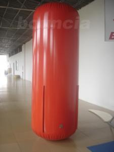 China 2.5m High Red Color Inflatable Tube / Inflatable Buoy For Advertising on sale