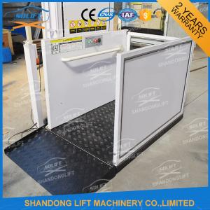 China Portable Handicap Lift Equipment Electric Vertical Residential Wheelchair Lifts For Home supplier