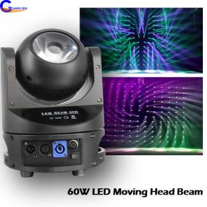 China Indoor 60W  LED Disco Stage Lighting DMX Channel Rotation Beam Moving Head Light on sale