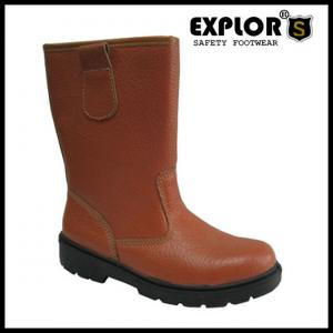 China Men's safety rigger boots with steel toe work boots for women and men Brown on sale