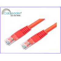 China High Speed Cat 5e networking cables, RJ45 Patch Cable with red color on sale