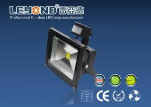 China 10w 20w 30w PIR High Power Led Flood Lights Waterproof Black Or Grey Casing on sale