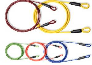 China Coated Steel Cable Accessories Cross Rope With Loops At Both Sides on sale