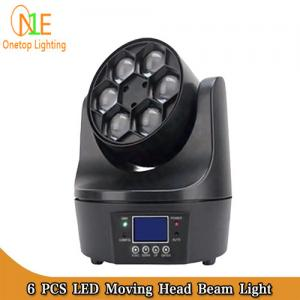 China Guangzhou Factory Stage 6 PCS 10W 4in1 Small Bee Eyes Rotation LED Moving Head Beam Lights on sale