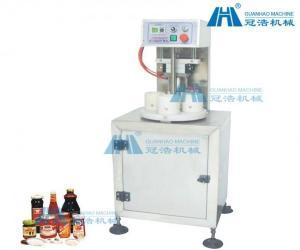 China Semi Automatic Vacuum Capping Machine , Cap Sealing Machine High Speed on sale