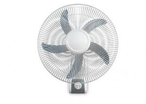 China White Small Wall Mounted Electric Fan 90 Degree 3 - Speed Low Noise on sale