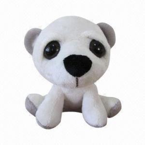 China Cartoon Plush Toy, Polar Bear with Big Eyes on sale