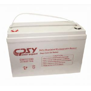 China Deep cyle gel battery 12V 100AH, sealed lead acid battery for solar system on sale