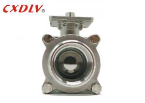 China CF8 CF8M BSPT Screw 6 Inch Threaded Ball Valve with High Platform for Direct Mounting on sale